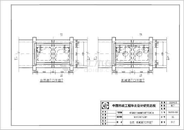 青岛市道路综合管沟安装工程通风设计图