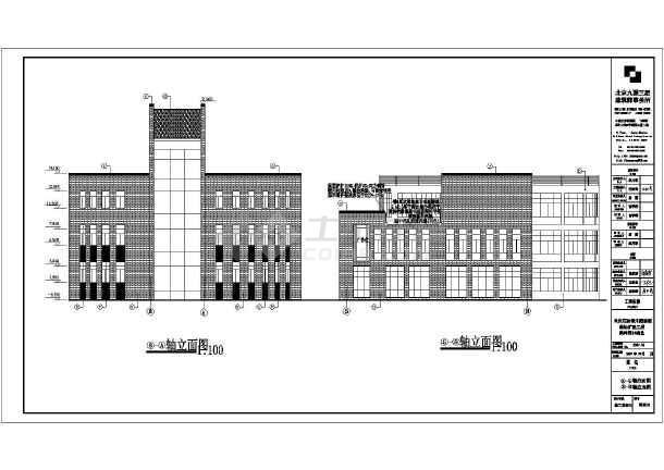 地三层框架结构圆柱形商业楼建筑施工图图片