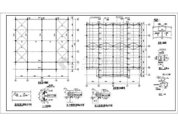 1-1剖面图,2-2剖面图,a-f立面图,1-5立面图,5-1立面图,结构设计总说明