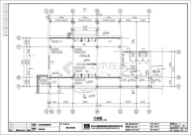 某地一层木结构仿古建筑设计施工图纸