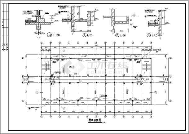 图纸 建筑图纸 教育建筑 大学生宿舍设计 浙江地区某中学宿舍楼建筑图片