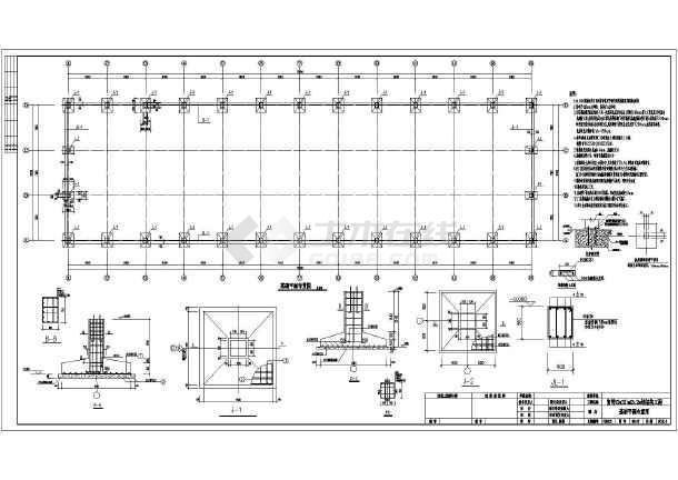 厂房结构设计 轻钢结构厂房 某地单层钢结构厂房建筑及结构施工图  简