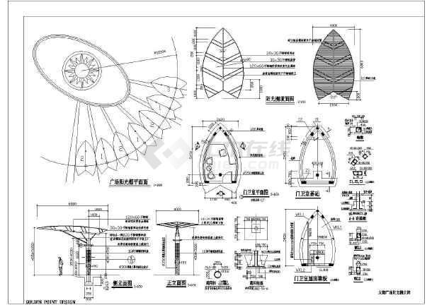某地区太阳广场景观设计施工图纸(含铺装)