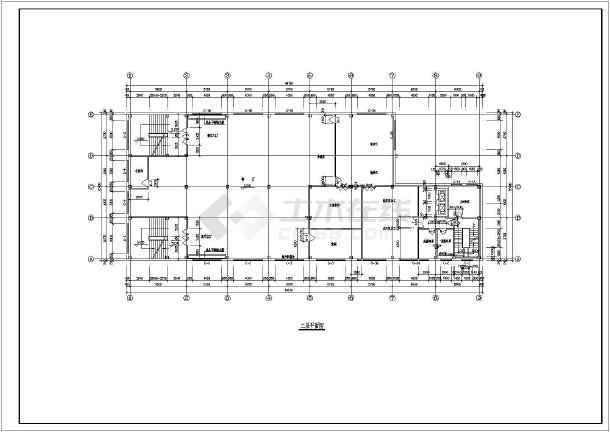 某三层钢框架结构食堂设计图