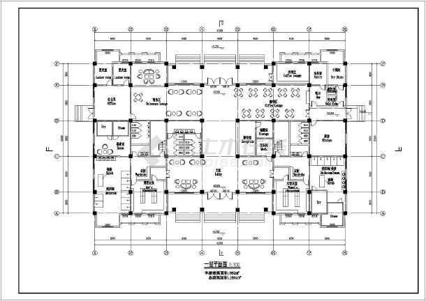 某地两层结构图纸方案所建筑设计框架图纸_小区art图片