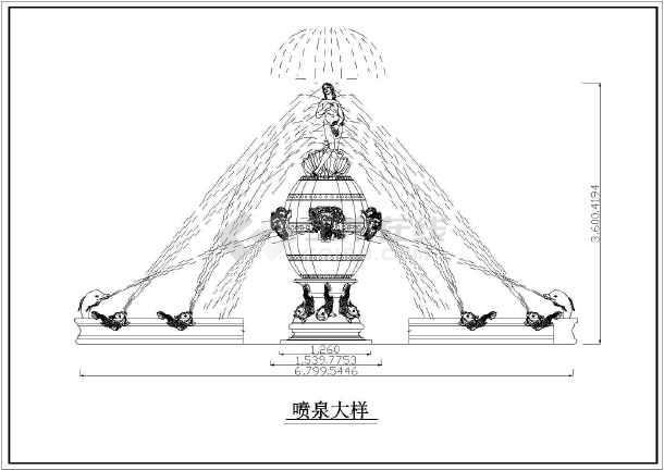 喷泉构造图_某喷泉水体结构大样图
