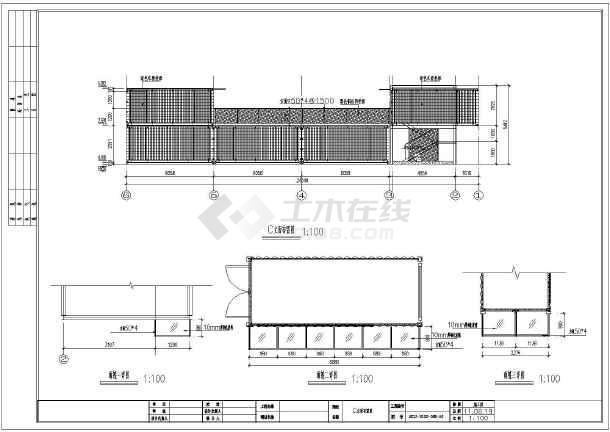 某方向中心步行街集装商业箱式建筑设计施工图cad放大单商铺如何图片