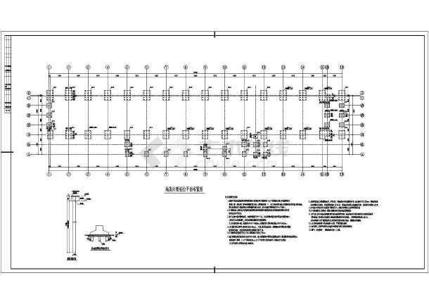 某单层刚框排架结构厂房结构施工图
