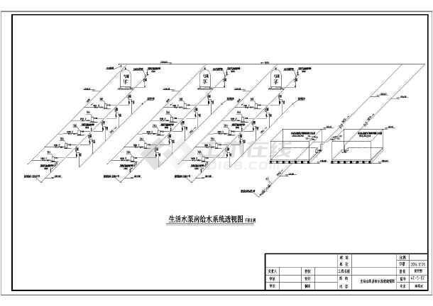 某地v层次水层次平面布置及安装大样设计图_ccad泵房图图片