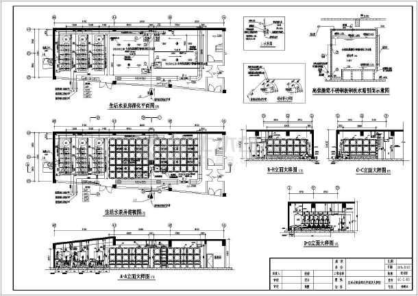 某地生活水泵房平面布置及安装大样设计图_cad图纸