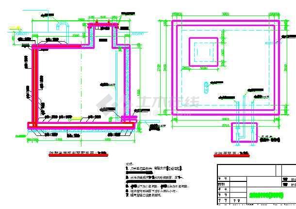 蓄水池设计图纸(过滤池 截水坝)