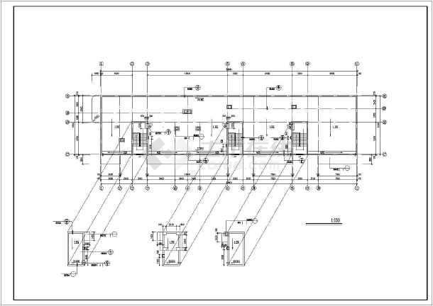 【江苏省】某市市区八层办公楼建筑设计图图片