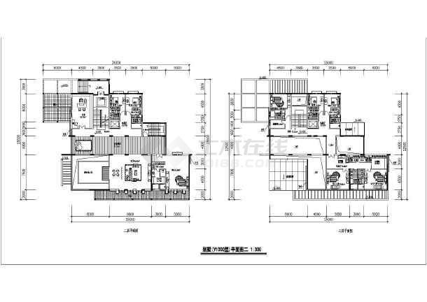 1000平方米豪华别墅建筑平面设计(含室内机械什么图纸泳池意思啊a图片