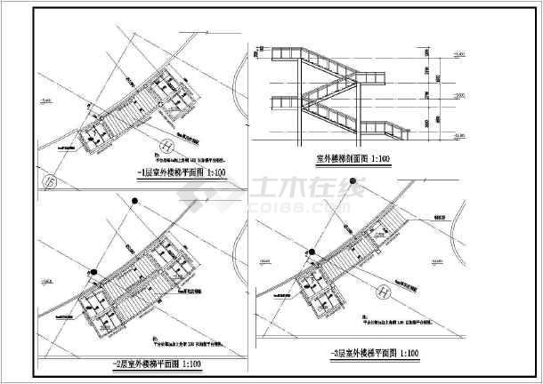 多层钢结构楼梯施工图
