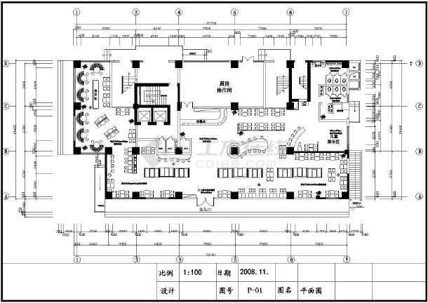 快餐厅平面设计图