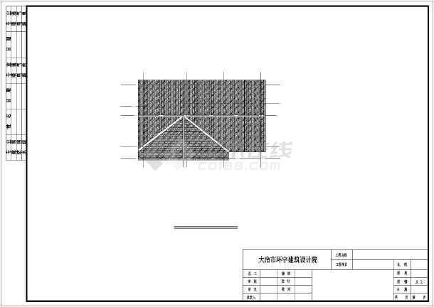 钢筋混凝土砖混结构仿木别墅建筑施工图