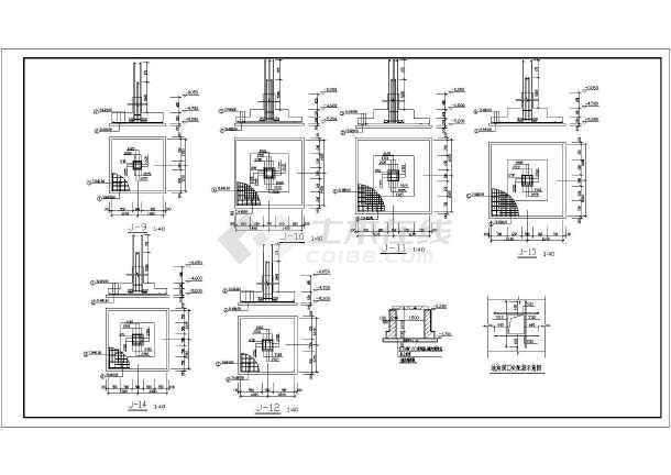 某3 1层框架结构厂房设计施工图图片