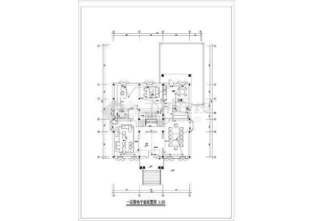 某两层框架结构私家别墅电气设计图纸