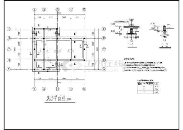 某地两套单层木结构古建筑建筑施工图