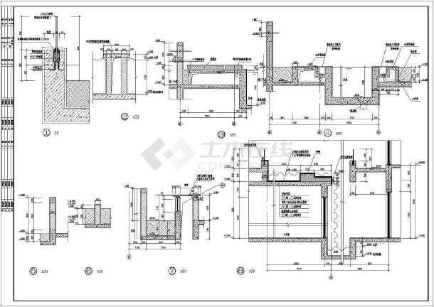 带地下室别墅建筑设计施工图,采用,图纸内容包含:地下层,各层平面图