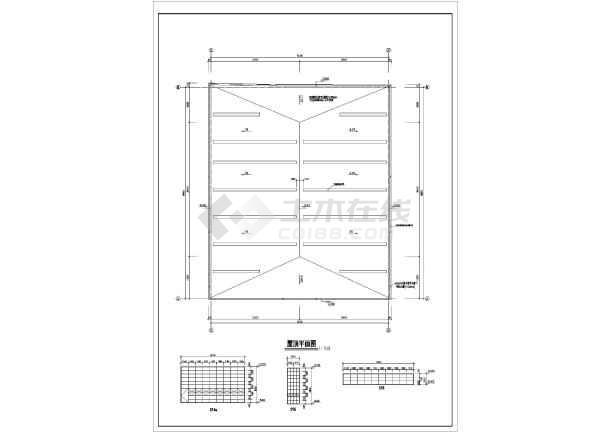某中学单层框架结构体育馆建筑设计方案图图片