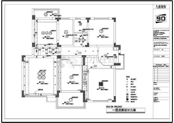 某地高层剪力墙结构住宅(复式楼)室内装修设计方案图