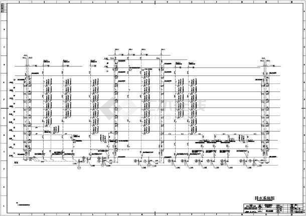 某地十二层办公楼建筑给排水设计施工图