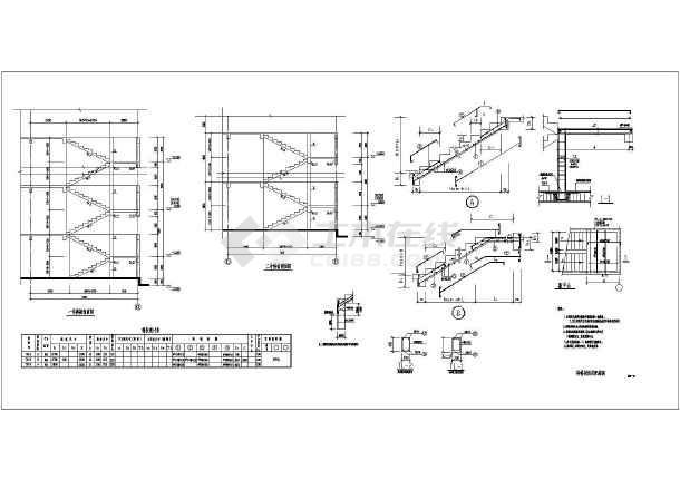 某五层框架结构学校宿舍结构设计图纸图片