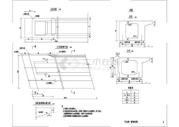 20M通用板公路图纸空心图(后张1.25m宽)_cad柜化妆品cad全套桥涵图片