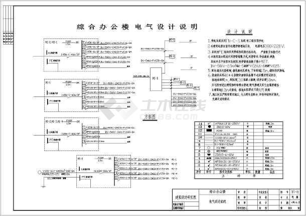某化工厂施工办公楼综合图纸(建结水暖电消防毕业设计图纸图片