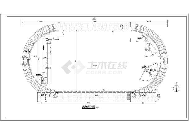 某地学校标准400米操场建筑设计施工图