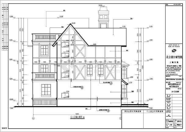 该图纸为某地三层框架结构别墅建筑设计施工图,建筑占地面积160.图片