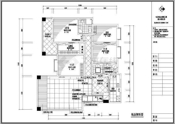 民用图纸三房二厅户型装修设计图纸_cad住宅图纸上wlwkl图片