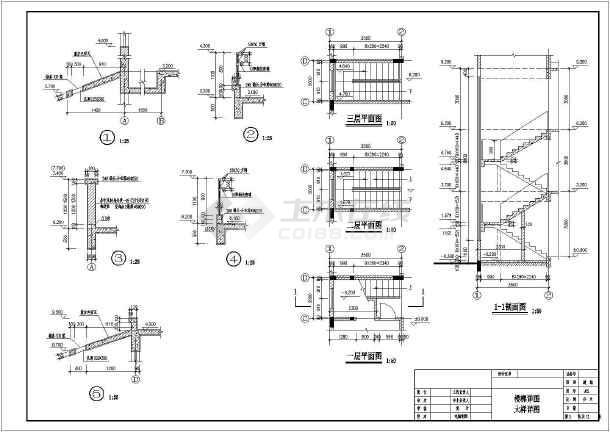 广州番禺3层框架结构农村别墅建筑和结构设计施工图