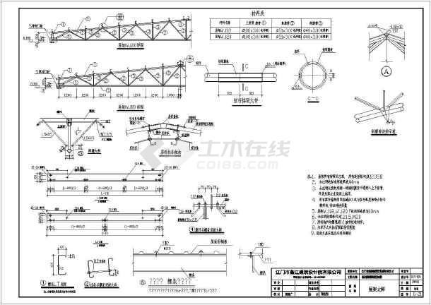 某地单层轻钢结构汽车维修车间结构施工图