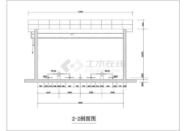 某污水厂水解酸化池单体设计施工图