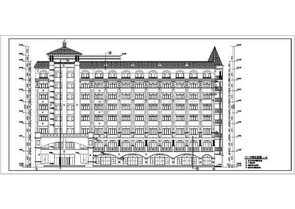 某经典中式八层酒店楼建筑设计方案图纸