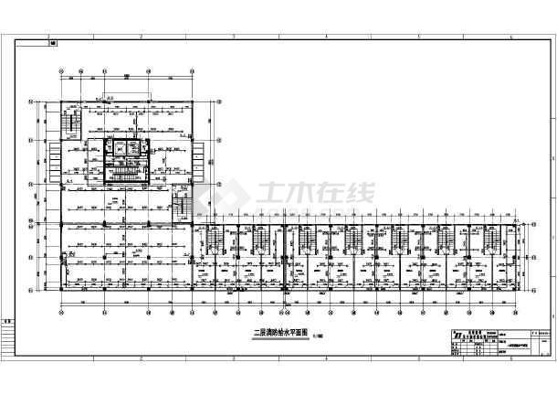 某十五层商住楼消防设计施工图(四层底商)