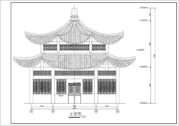 某风景区双层六角亭施工图(含建筑,结构图)