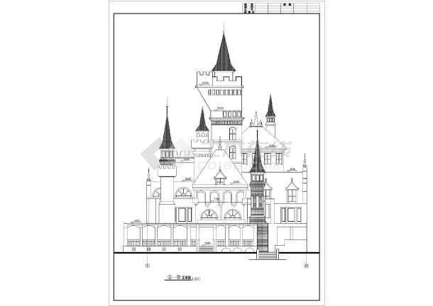 法兰西风格小镇规划图带效果图  简介:共有43张,包括总图(木屋剖面图