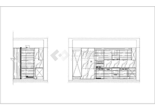 【上海】某现代风格两居室样板房装修施工图纸(含实景