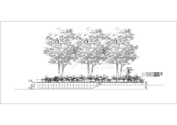 小区景观工程中轴中心水景特色雕塑及喷泉施工图-图1
