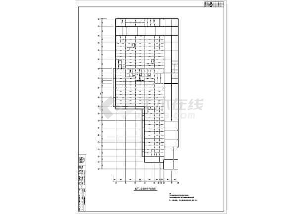 北京某地上18层地下3层钢管混凝土面积施工图cad求扣除结构图片