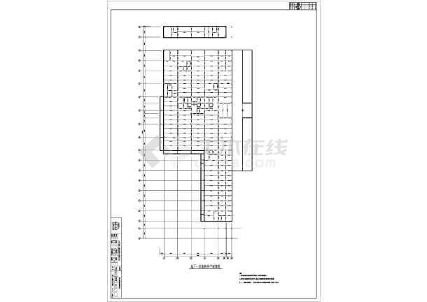 北京某地上18层地下3层结构混凝土钢管施工图2014cad文字大小图片
