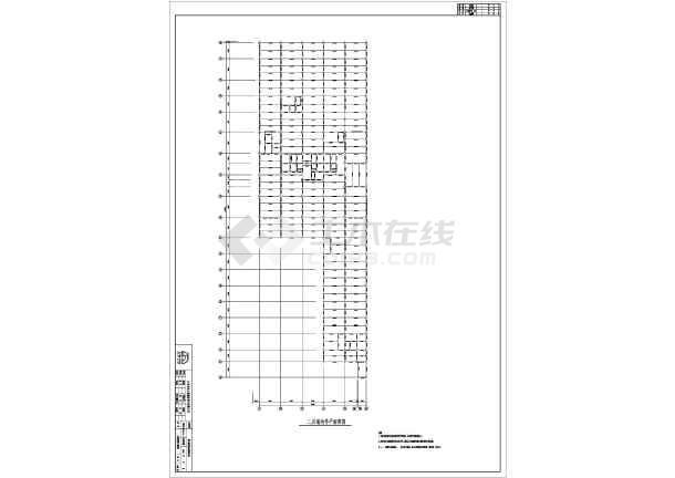 北京某地上18层地下3层沙发混凝土钢管施工图三人结构cad图图片