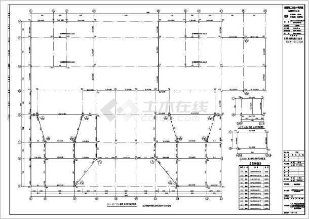 包括钢结构设计说明,烟道支架基础平面布置图,基础详图,结构平面布置