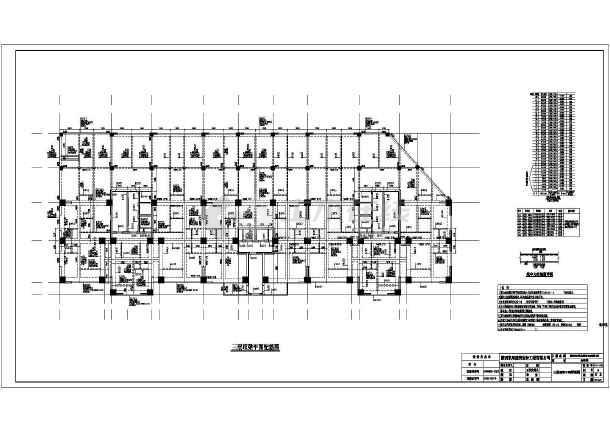 靖边县30层底部商场上部框剪结构住宅设计图