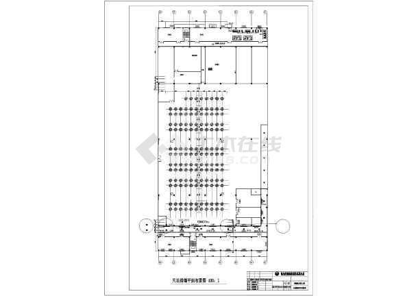 某厂房管道排烟天花图纸布置设计图_cad图纸cad系统如何套图片