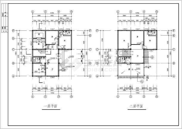 某地二层乡村阁楼别墅建筑设计图(长13.8米 宽11.76米图片