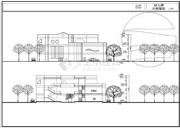 某地小型幼儿园建筑设计平面图(4张)